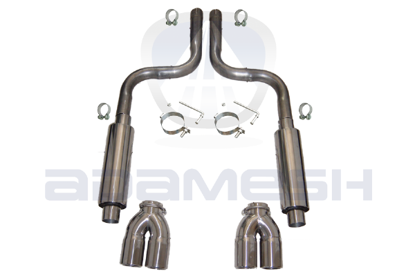 Jaguar XK Replacement Exhaust - Stage 1 - 4.2L - Quad Tips